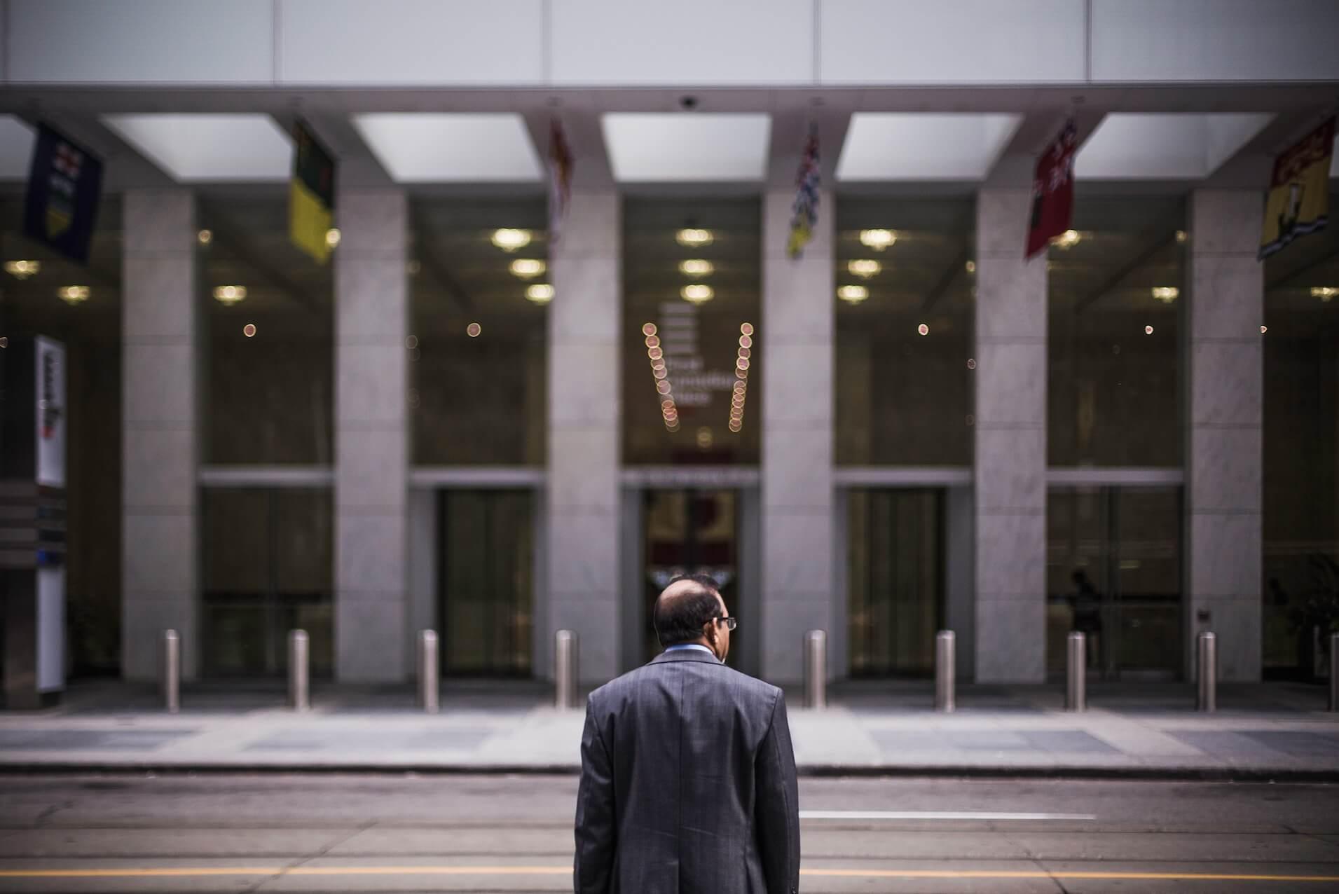 Man Outside Law Office