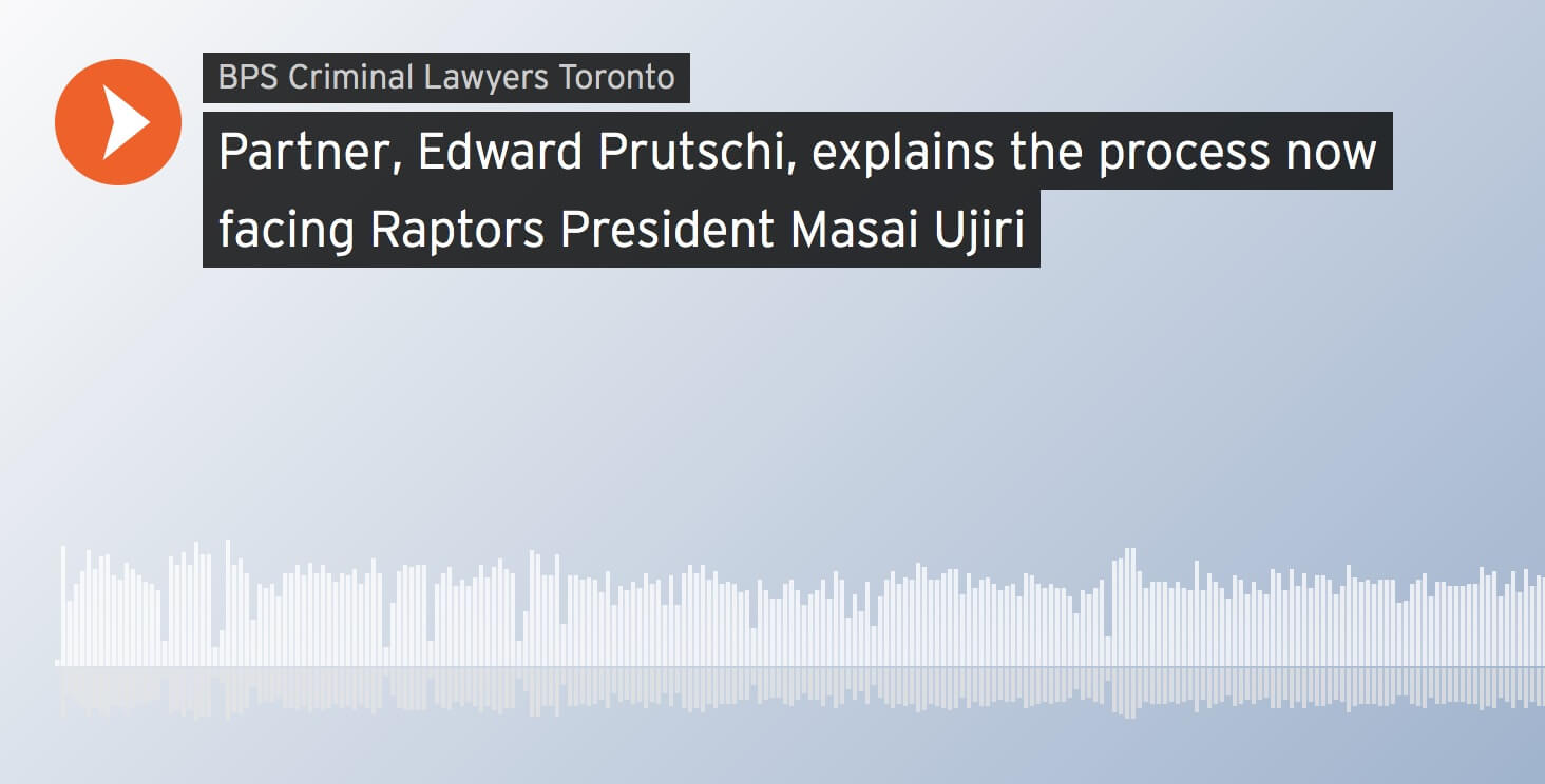 Edward Prutschi, explains the process now facing Raptors President Masai Ujiri