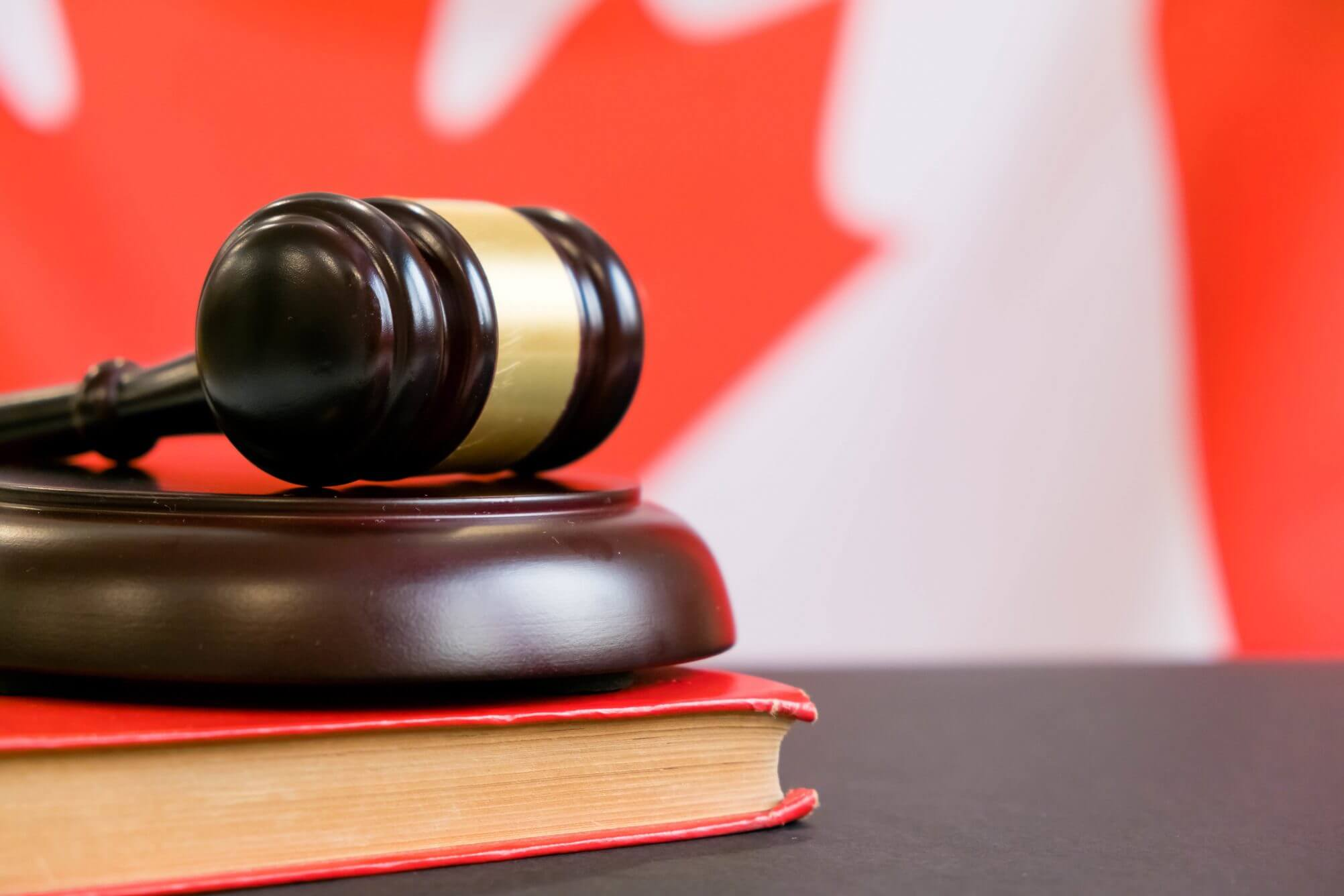 Gavel and Flag of Canada